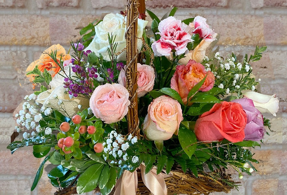 Sweet Rose Basket