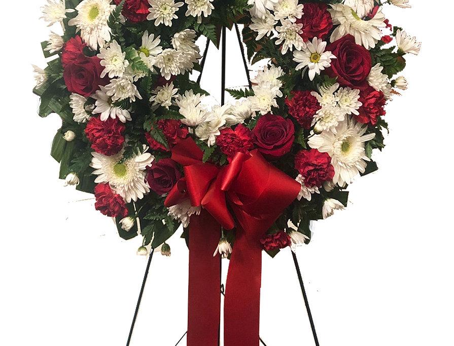 Glorious Memories Round Standing Wreath