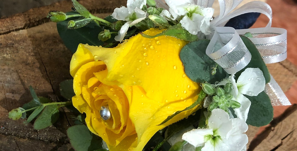 Yellow Rose Corsage/Boutonniere