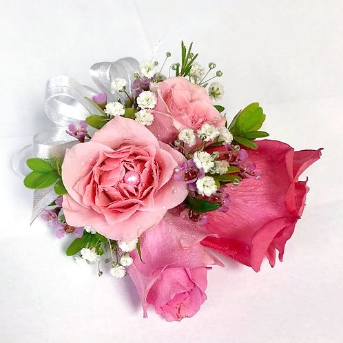 Rays of Pinks Corsage/Boutonniere