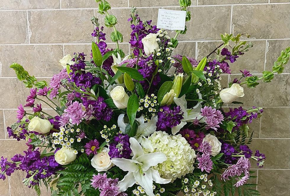 Purple and White Basket
