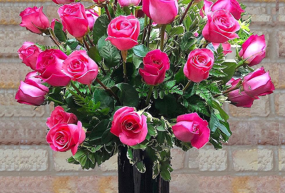 36 Pink Long-Stemmed Roses