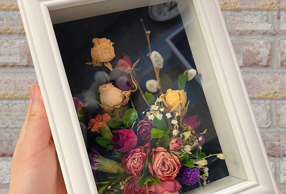 Framed Dried Rose (Small)