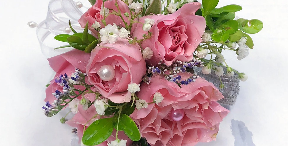 Grand Pink Corsage/Boutonniere