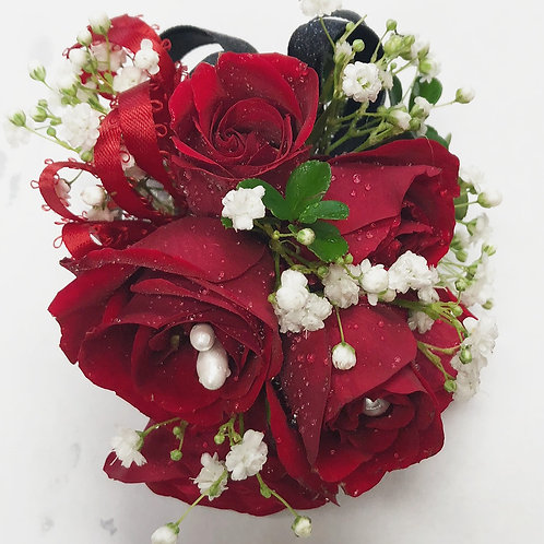 Grand Red Roses Corsage/Boutonniere
