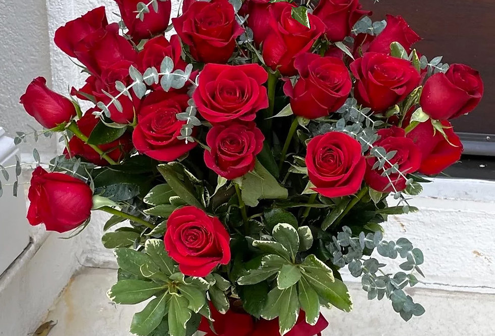 Fresh 36 Red Roses