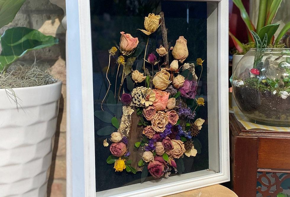 Framed Dried Roses (Large)