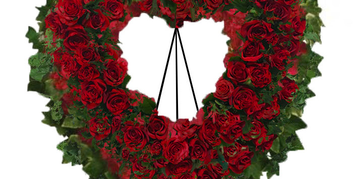 Remembrance in Red Standing Wreath