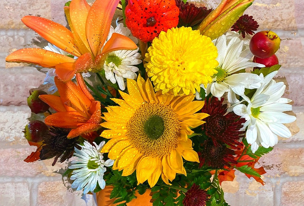 Pumpkin Vase Bouquet
