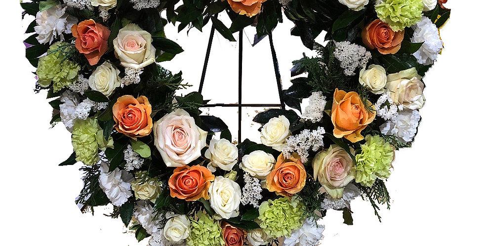 Heart of Treasures Standing Wreath