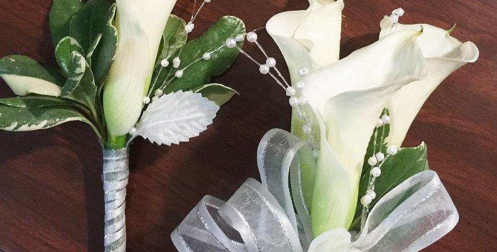 White Calla Lily Corsage/Boutonniere