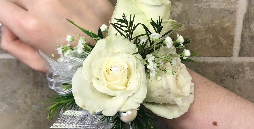 Pure in White Corsage/Boutonniere