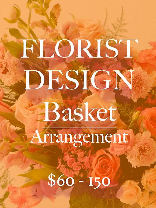 Florist Design BASKET Arrangement