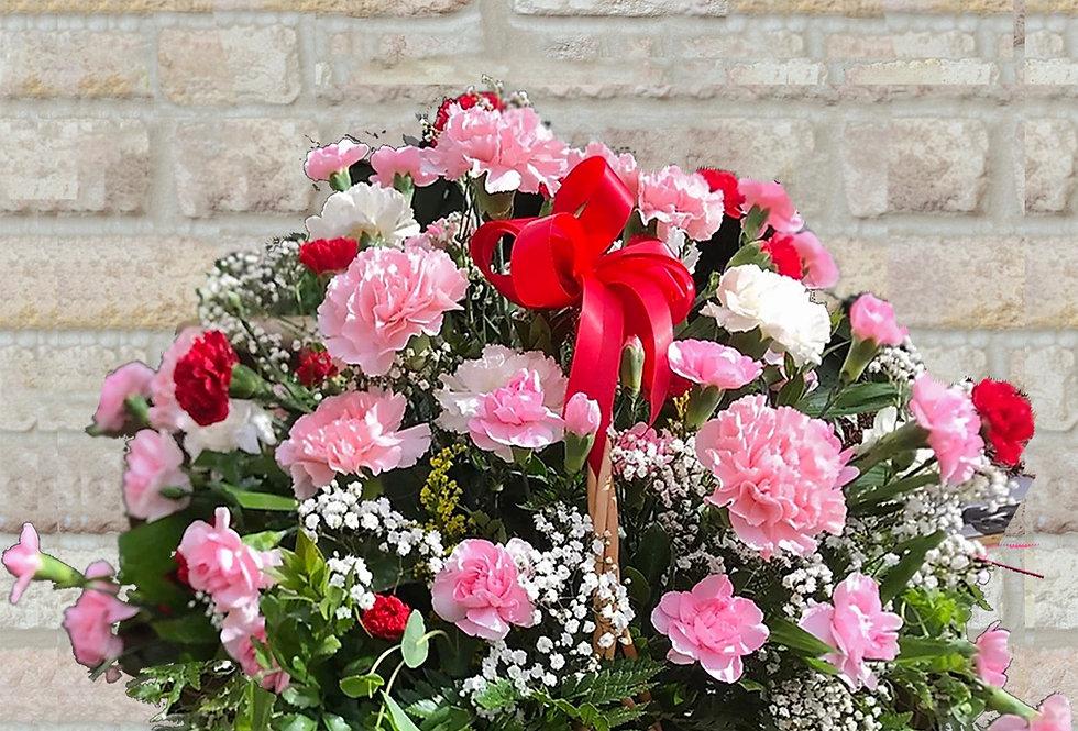 Carnation Sensation Basket
