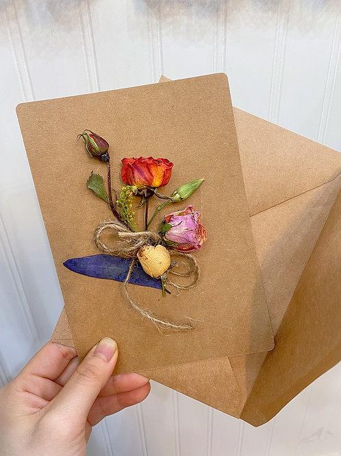 Handmade Dried Flower Card (Add-on)