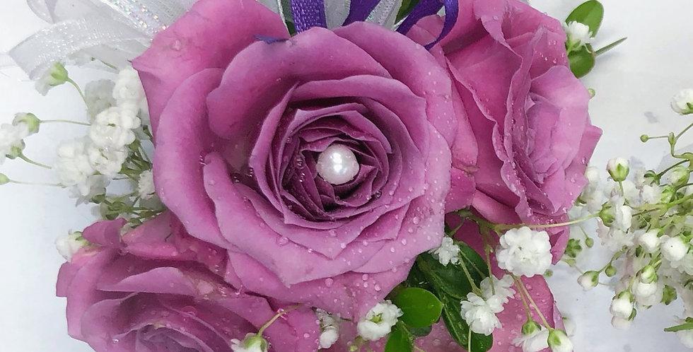 Purple Rose Corsage/Boutonniere