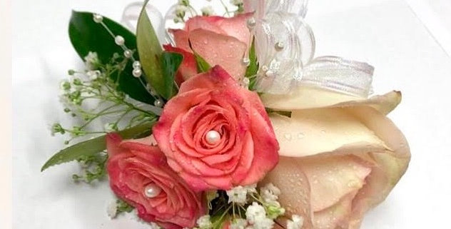 Coral Rose Corsage/Boutonniere