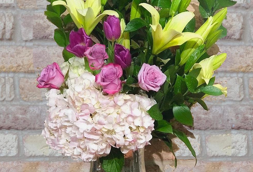 Exquisite Garden (Mercury Glass) Bouquet