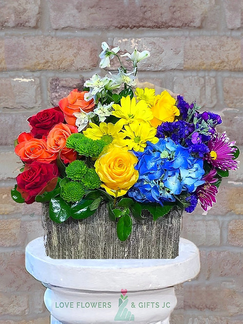 Color Your Life (Stone Vase) Bouquet