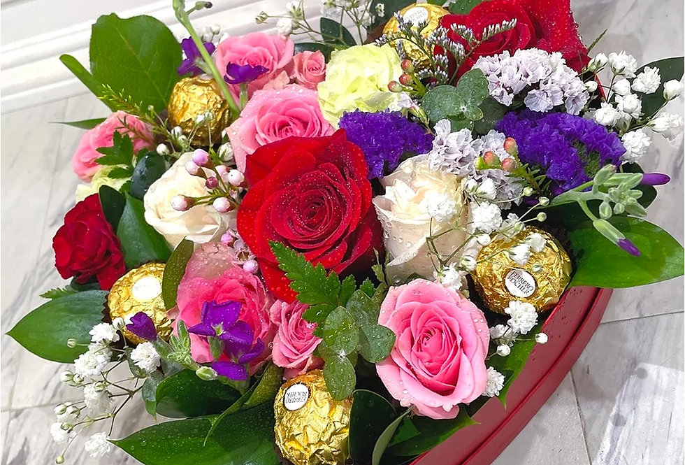 Rochers and Roses (Heart Box)