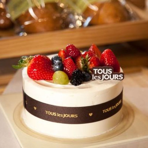 Fresh Cream Cake from Tous les Jours (Add-on)