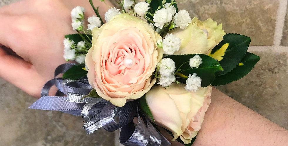 Peach Green Rose Corsage/Boutonniere