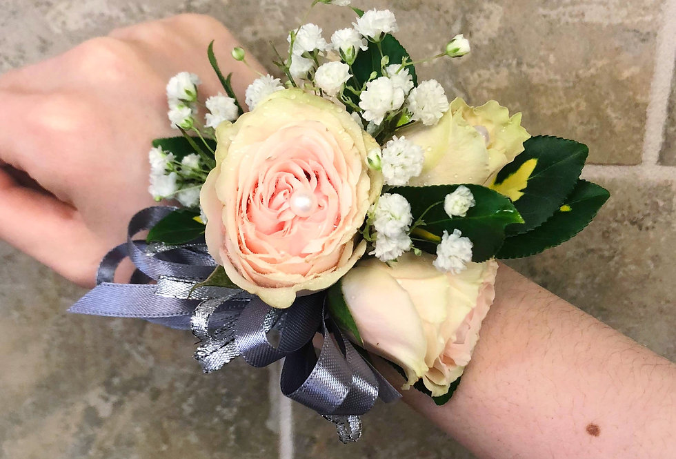 Peach Green Rose Corsage/Boutonniere