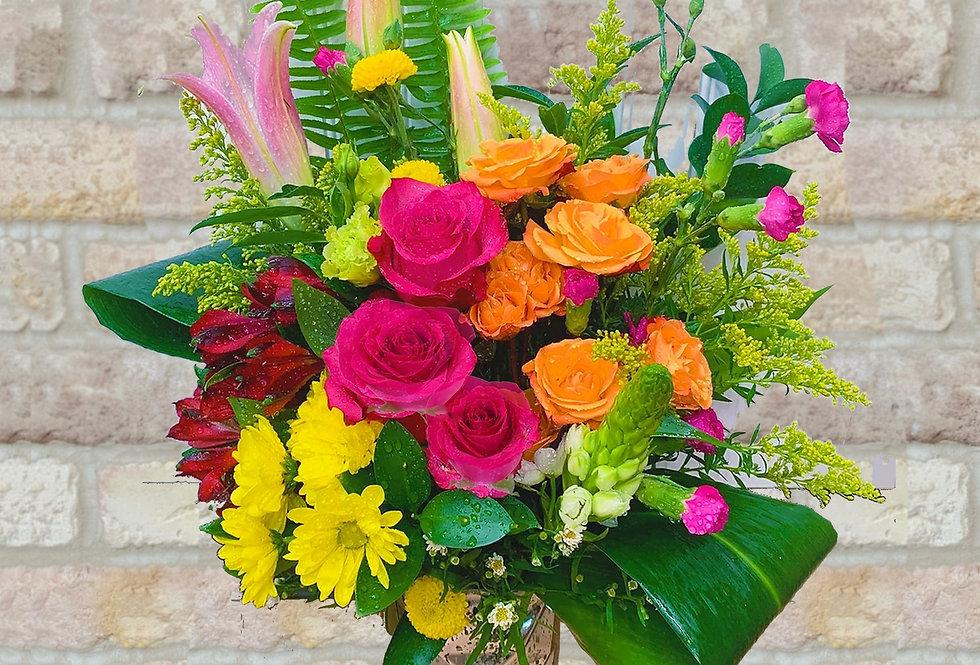 Blaze of Beauty (Mercury Glass) Bouquet