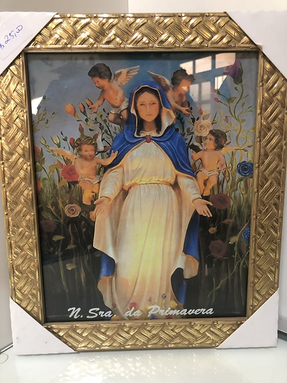 Quadro de Nossa Senhora da Primavera c/ vidro 30X20