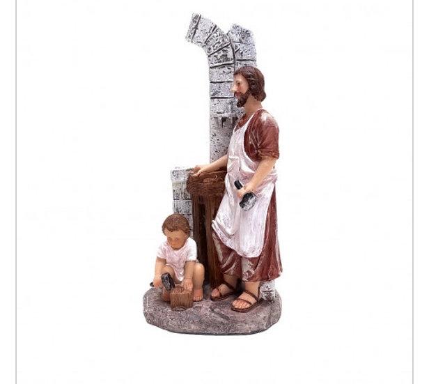 São José carpinteiro e o menino Jesus carro