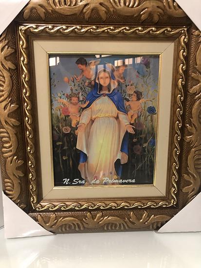 Quadro Nossa Senhora da Primavera c/ vídro 44X38