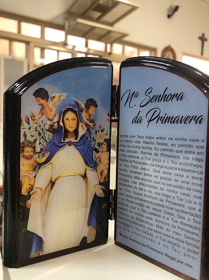 Capela Nossa Senhora da Primavera Oração 15cm