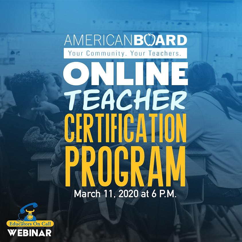 Online Teacher Certification Program