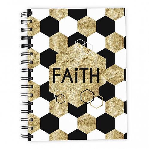 Faith Gold Hardback Wirebound Christian Notebook