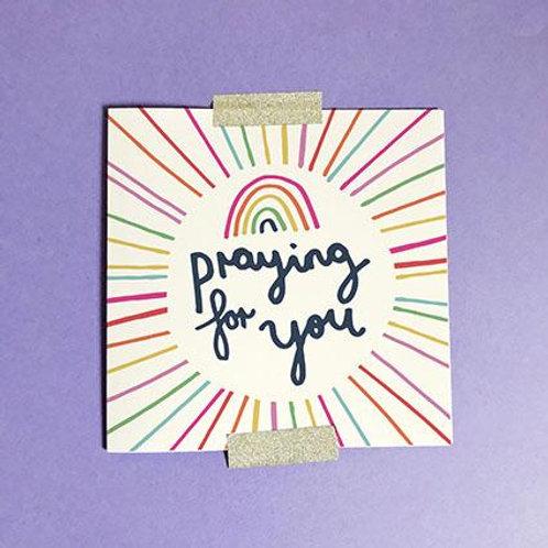 Praying For You Christian Greetings Card