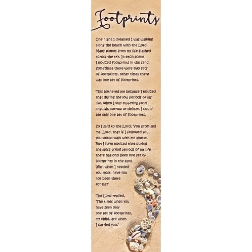 Footprints In The Sand Poem Christian Bookmark