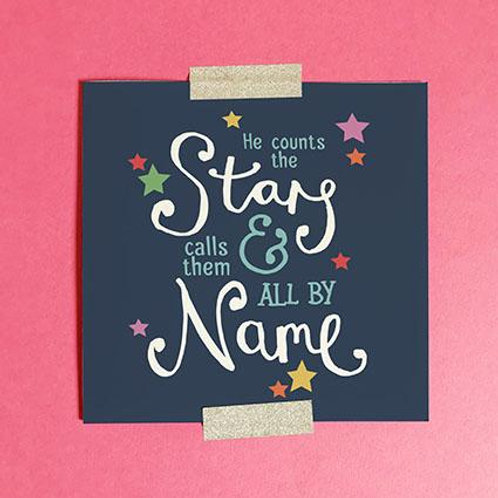 He Counts The Stars (Baby or Child) Christian Greetings Card