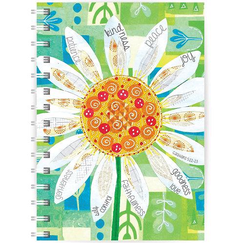 Daisy Fruits of the Spirit A5 Wirebound Christian Notebook