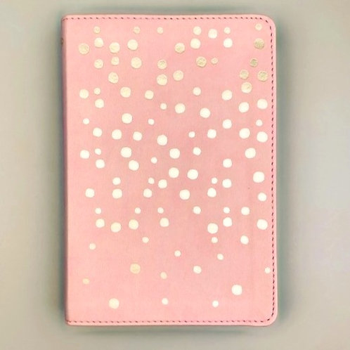 NKJV Compact Ultrathin Bible For Teens in Pink with Rose Gold Foil