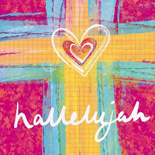 Hallelujah Heart Christian Easter Cards
