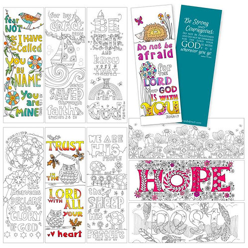 Images Of Grace Christian Colouring Bookmarks