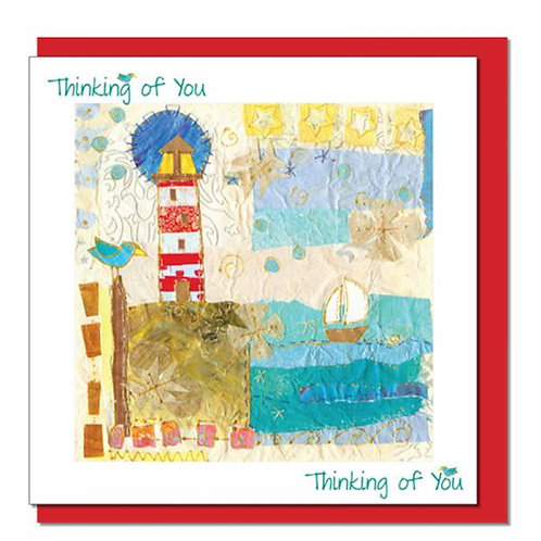 Thinking of You Lighthouse Christian Greetings Card