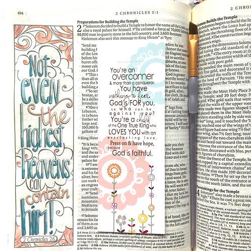 You're An Overcomer Christian Bookmark