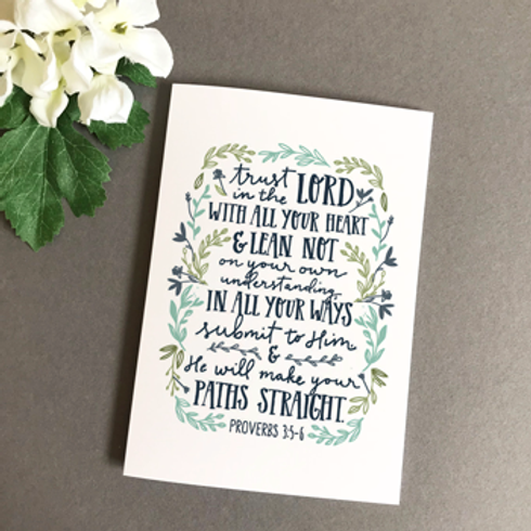 Trust In The Lord Christian Greetings Card
