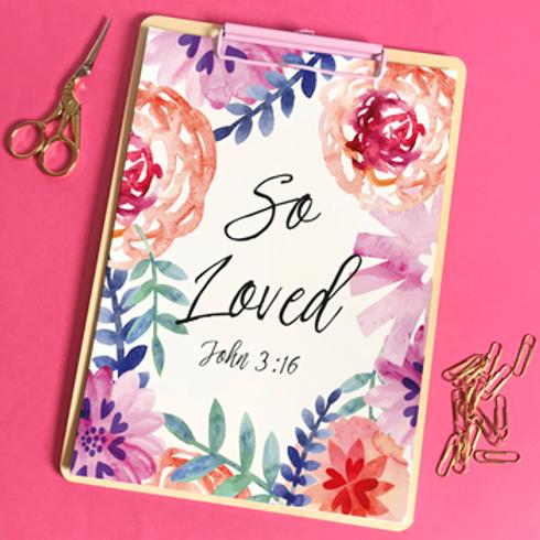 So Loved A5 Christian Artwork Print