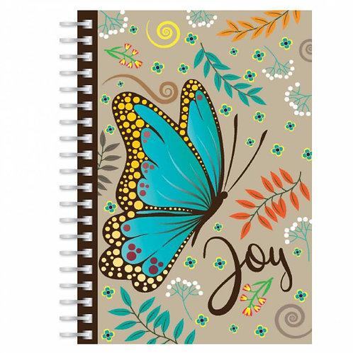 Joy Butterfly A5 Wirebound Christian Notebook