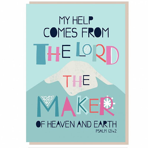 My Help Comes From The Lord  Christian Greetings Card