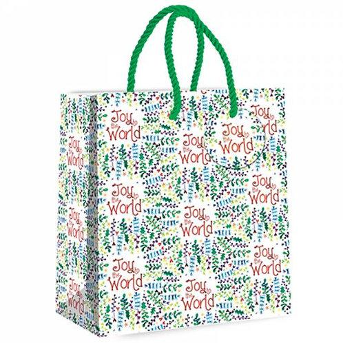 Joy to the World Christian Christmas Gift Bag