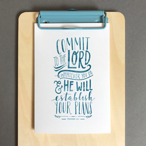 Commit To The Lord Christian Greetings Card