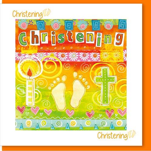 Christening Christian Greetings Card